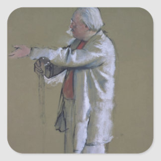 The Ballet Master, 1875 (pastel) Square Stickers