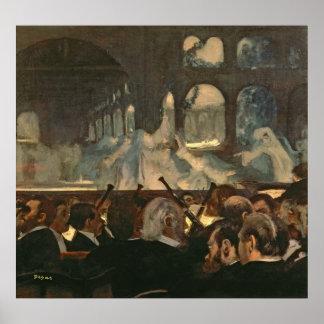 The ballet scene from Meyerbeer's opera Poster