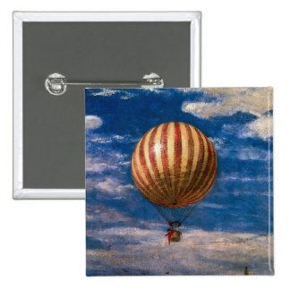 The Balloon, 1878 2 Inch Square Button