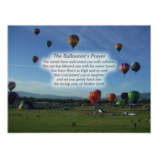 The Balloonist's Prayer Poster