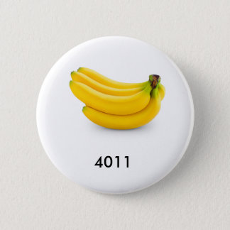 The bananas look good enough to eat. 2 inch round button