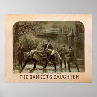 The banker's Daughter Vintage Poster