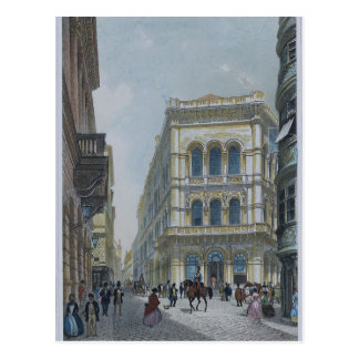 The banking and stock exchange building postcard