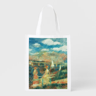 The banks of the Seine at Argenteuil, 1880 Reusable Grocery Bags
