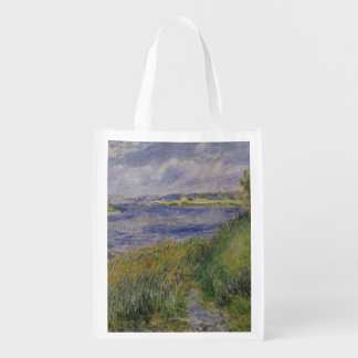 The Banks of the Seine, Champrosay, 1876 Reusable Grocery Bag