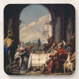 The Banquet of Anthony and Cleopatra, c.1744 (oil Coaster
