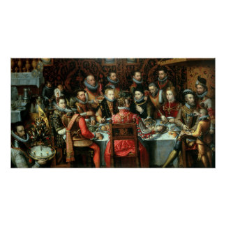 The Banquet of the Monarchs, c.1599 Poster