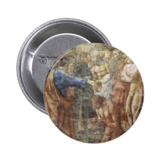 The Baptism Of A Convert By Masaccio Best Quality Button