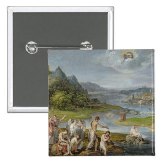 The Baptism of Christ 2 2 Inch Square Button