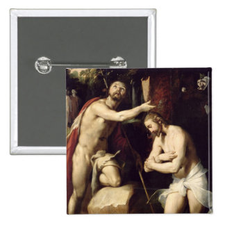 The Baptism of Christ 2 Inch Square Button