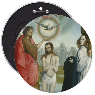 The Baptism of Christ 6 Inch Round Button