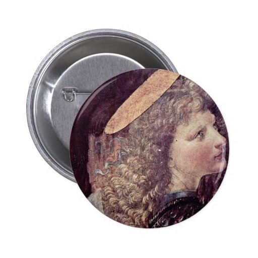 The Baptism Of Christ  By Andrea Del Verrocchio Pinback Button
