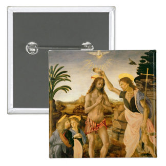 The Baptism of Christ by John the Baptist 2 Inch Square Button
