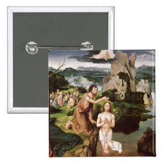 The Baptism of Christ, c.1515 2 Inch Square Button