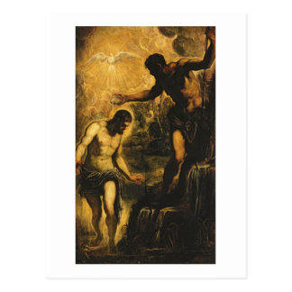 The Baptism of Christ (oil on canvas) Postcard