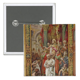 The Baptism of Clovis I 2 Inch Square Button