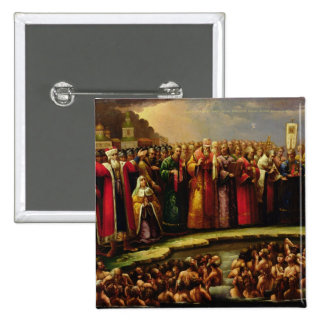The Baptism of the Murom people 2 Inch Square Button