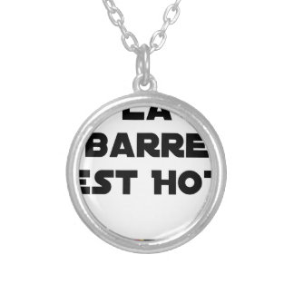 The BAR HOT EAST - Word games - François City Silver Plated Necklace