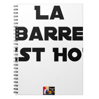 The BAR HOT EAST - Word games - François City Spiral Notebook