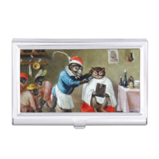 The Barber Monkey Business Card Holder