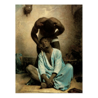 "The Barber of Suez"" by Leon Bonnat, 1876. Postcard"