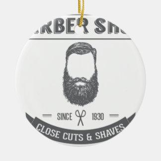 The barber shop ceramic ornament