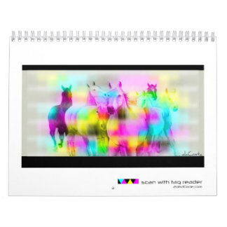 The BarCode Art of Bret daCosta Wall Calendar