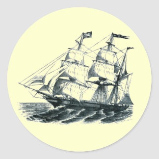"The Bark ""Florida"" Sailing Ship Bookmark Classic Round Sticker"