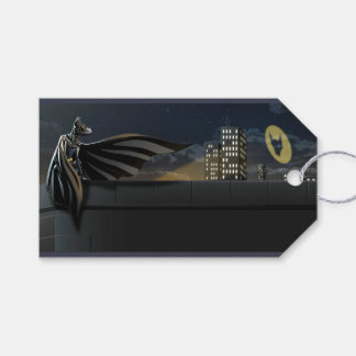 """The Bark Knight"" Superhero Pun Illustration Gift Tags"