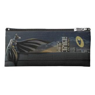 """The Bark Knight"" Superhero Pun Illustration Pencil Case"