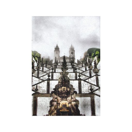 The Baroque staircase of Bom Jesus in Braga Gallery Wrapped Canvas