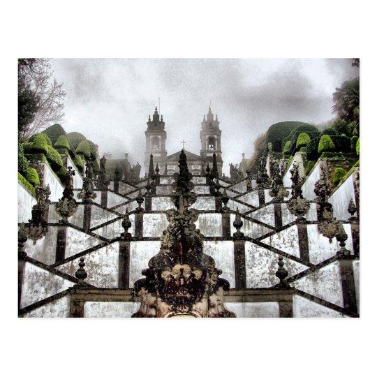 The Baroque staircase of Bom Jesus in Braga Postcard