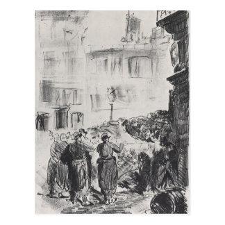 The Barricade by Edouard Manet Postcard