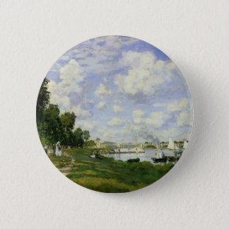 The Basin at Argenteuil - Claude Monet 2 Inch Round Button