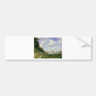 The Basin at Argenteuil - Claude Monet Bumper Sticker