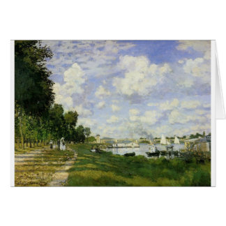 The Basin at Argenteuil - Claude Monet Card