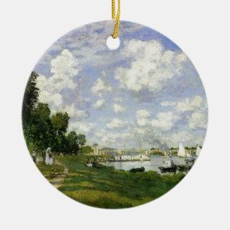 The Basin at Argenteuil - Claude Monet Ceramic Ornament
