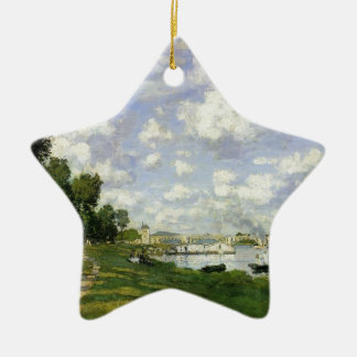 The Basin at Argenteuil - Claude Monet Ceramic Star Ornament