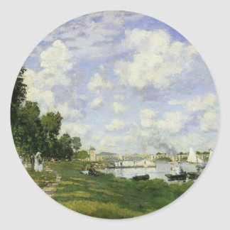 The Basin at Argenteuil - Claude Monet Classic Round Sticker