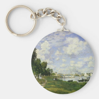 The Basin at Argenteuil - Claude Monet Keychain