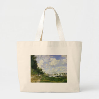 The Basin at Argenteuil - Claude Monet Large Tote Bag