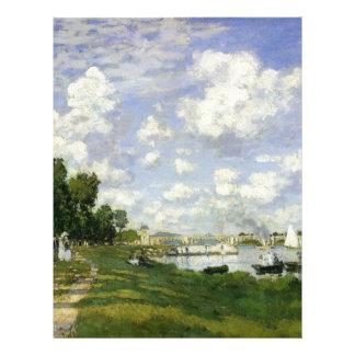 The Basin at Argenteuil - Claude Monet Letterhead