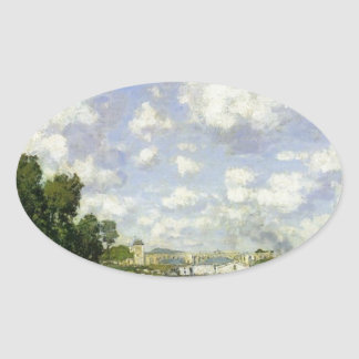 The Basin at Argenteuil - Claude Monet Oval Sticker