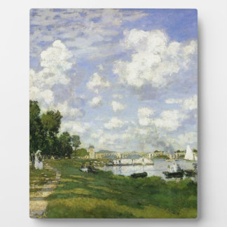The Basin at Argenteuil - Claude Monet Plaque