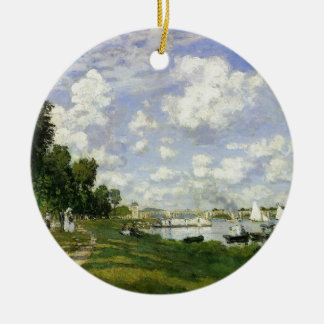 The Basin at Argenteuil - Claude Monet Round Ceramic Ornament