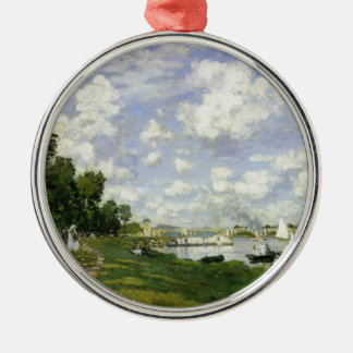 The Basin at Argenteuil - Claude Monet Silver-Colored Round Ornament