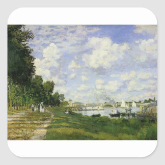 The Basin at Argenteuil - Claude Monet Square Sticker