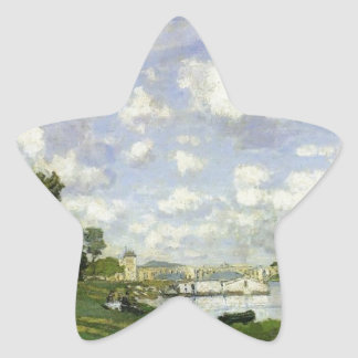 The Basin at Argenteuil - Claude Monet Star Sticker