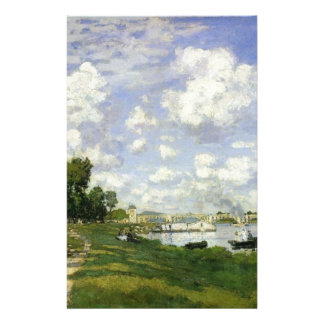 The Basin at Argenteuil - Claude Monet Stationery