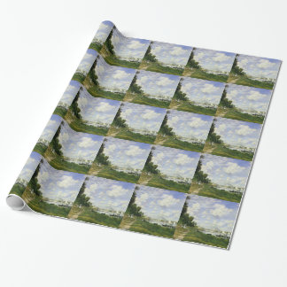 The Basin at Argenteuil - Claude Monet Wrapping Paper